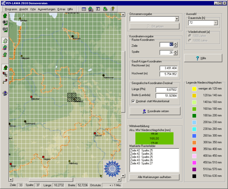 Screenshot von PEN-LAWA 2010