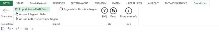 GRUNDSTÜCK.XLS - Registerkarte